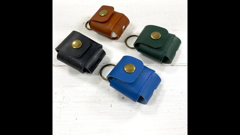 Ear pod cases in 4 different colours