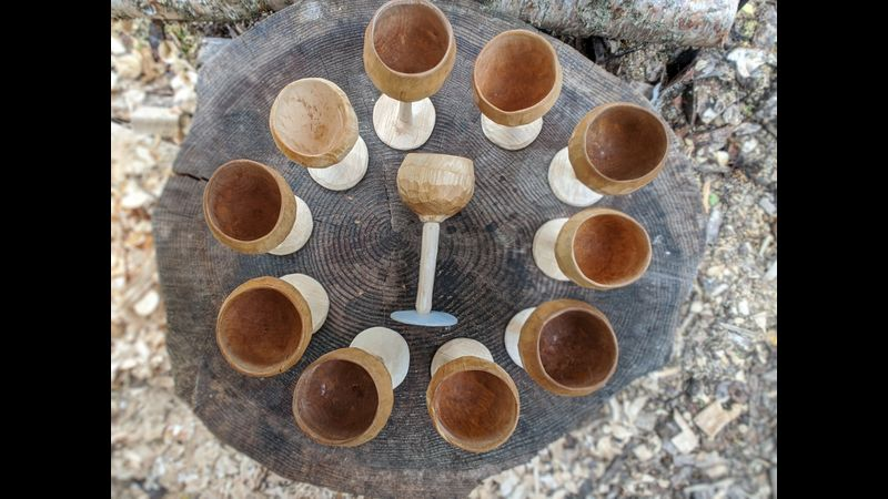 Goblets before painting