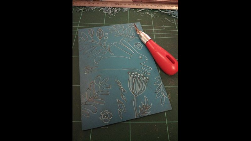 Carving lino.