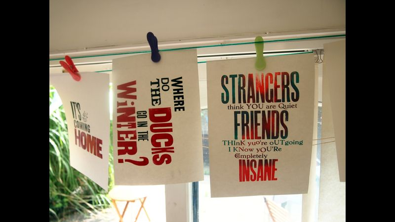 Print a Posters hanging to dry