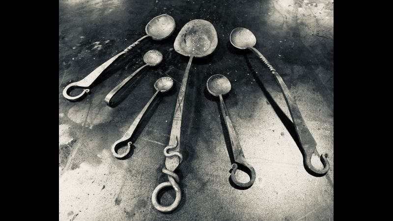 Forged spoons for the Lord of the Rings