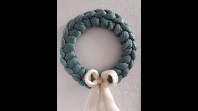 Arm Knit Wreath Online Workshop - Teal Wreath Colour Choice