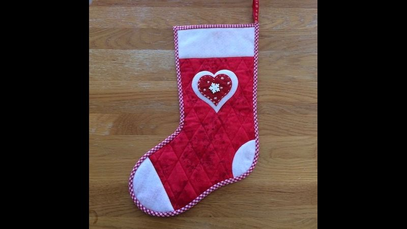 Heart stocking design
