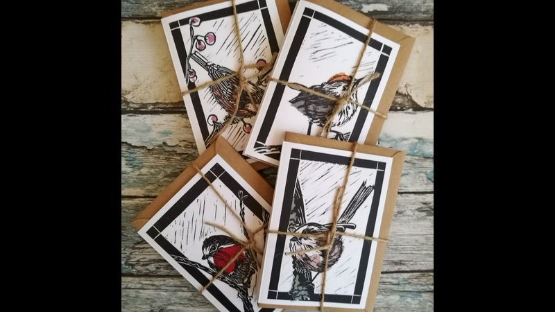 British Birds pack of 4 cards