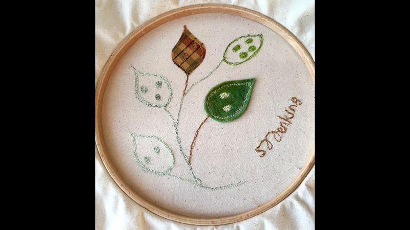 Student's work, beginners machine embroidery