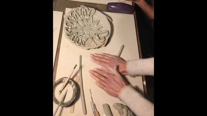 How to make a clay coil