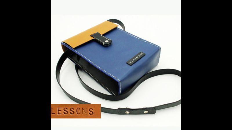 Small leather crossbody bag workshop
