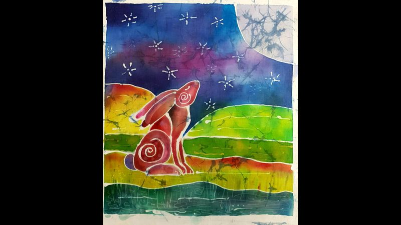 A magical moon gazing hare.