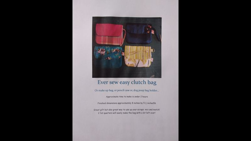 Pattern Pack Ever Sew Easy Clutch bag