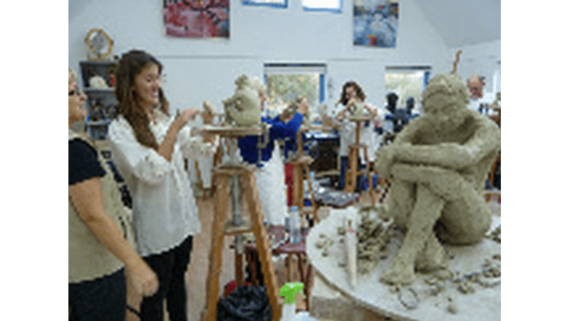 Clay life modelling and sculpture weekend course in Oxforshire