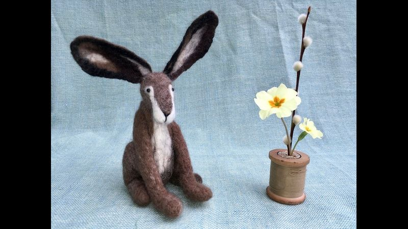 Needle Felt animals at Cowshed Creative, Lake District National Park