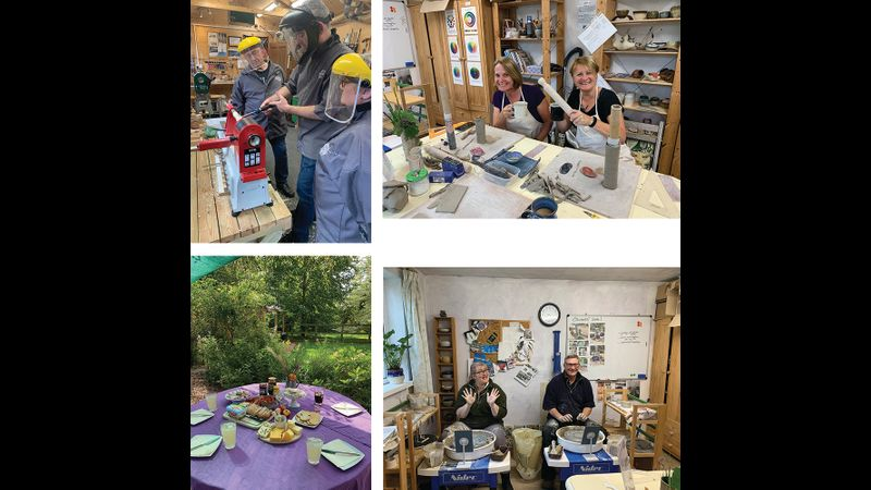 Enjoy woodturning and pottery in the same day!