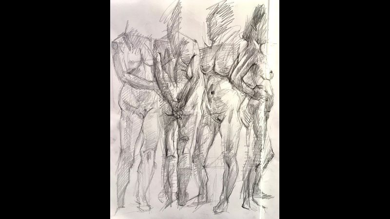 Life Drawing at Cowshed Creative in the Lake District
