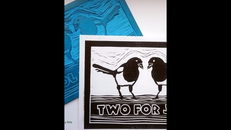 Lino printing workshop with Craft My Day