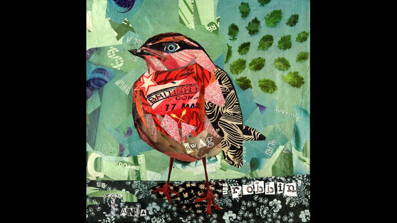 """""""Robbin'""""  Origina Mixed Media Collage by Tania - this is an example of what can be achieved on the taster workshop."""