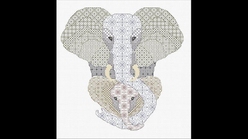 Blackwork Elephant from DoodleCraft Design