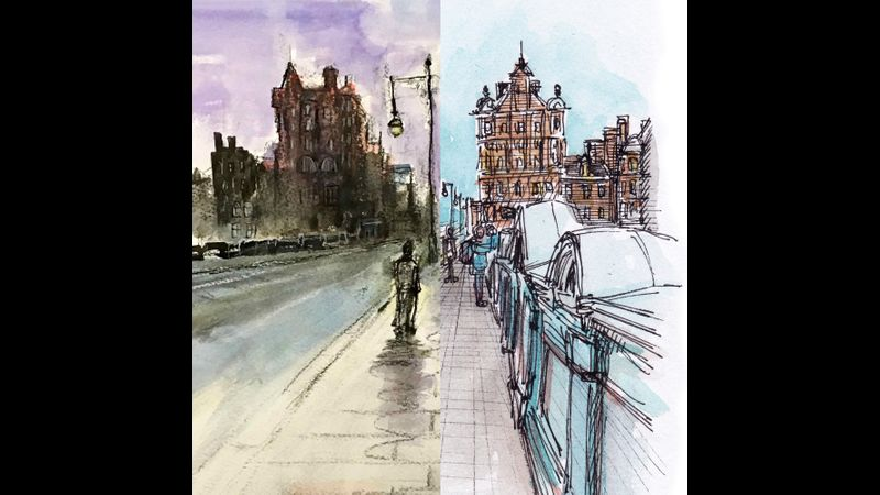 Cityscapes in Sketches and Mixed Media - Edinburgh, with Mark Kirkham and Julie Galante