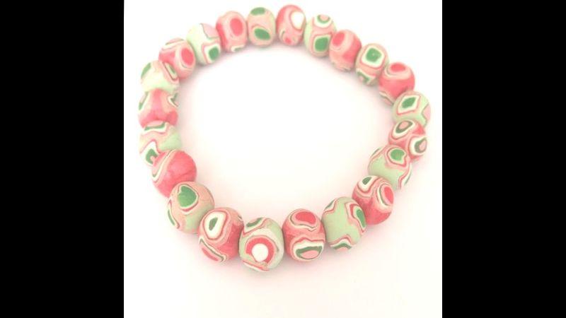 Watermelon polymer clay bracelet by Yasmin Ali
