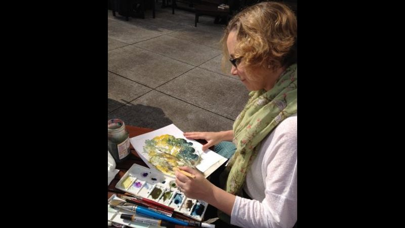 Your friendly tutor for the day - professional artist Clare Tebboth