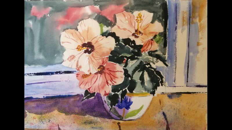 Hibiscus ORIGINAL watercolour
