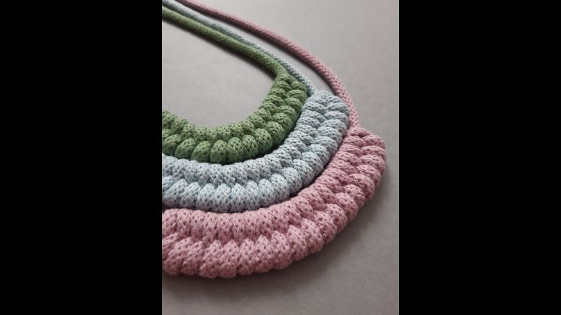 Learn to Make a Macrame Woven Necklace