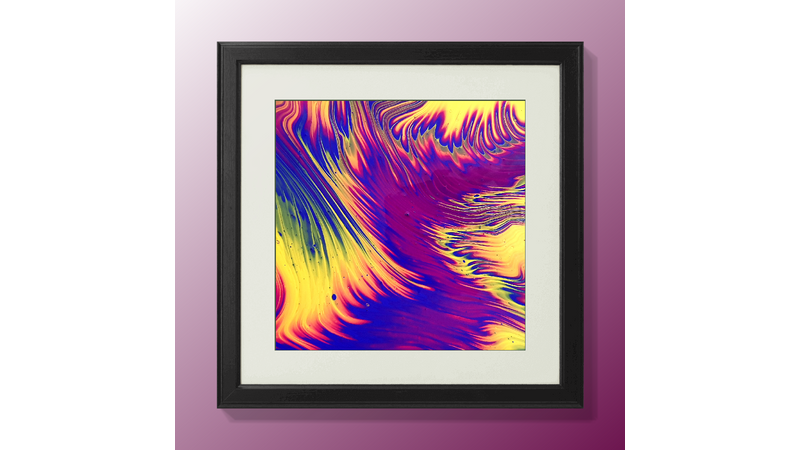 An example of acrylic pouring: Learn how to pour acrylics.