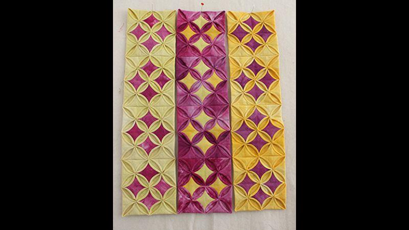 Folded patchwork design