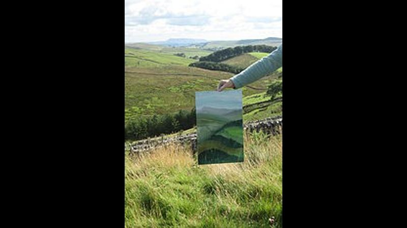 landscape painting in oils, Horton-in-Ribblesdale, N Yorkshire