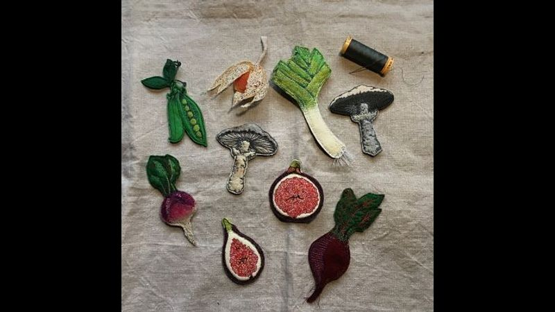 Fruit & veg brooches