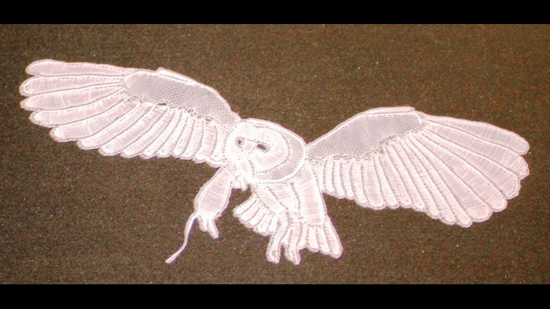 Honiton Lace - Raised & Rolled Owl