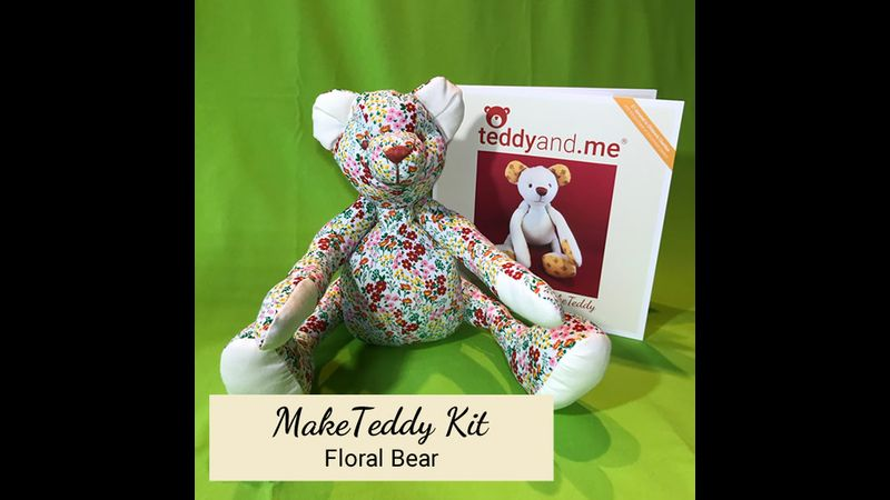 MakeTeddy Sewing Kit - Floral Bear