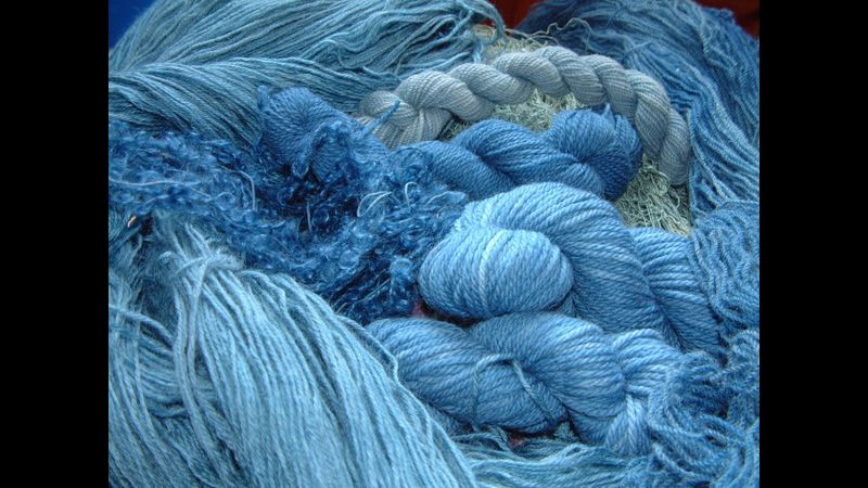 Dyeing the blues