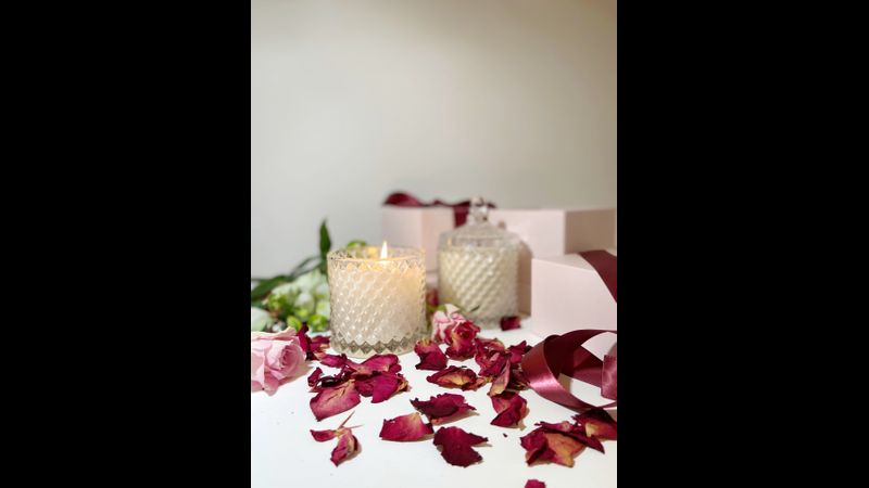 Valentine themed candle making