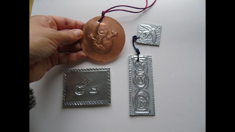 Examples for embossing course