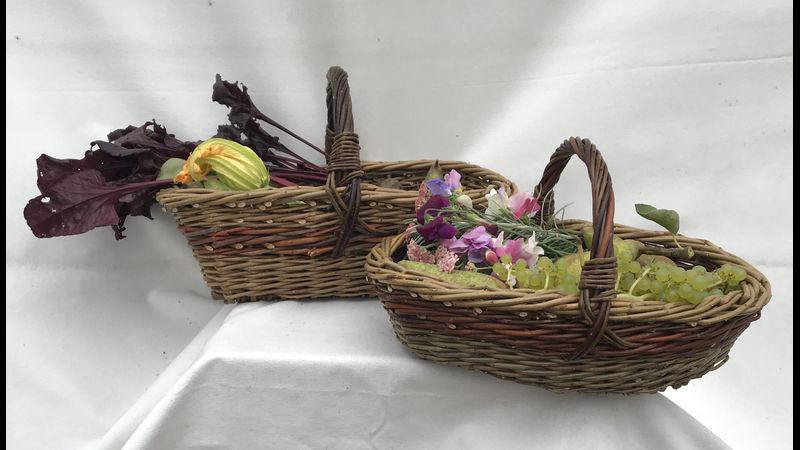 Oval & Oblong Garden Basket, make me at Coates English Willow, Somerset