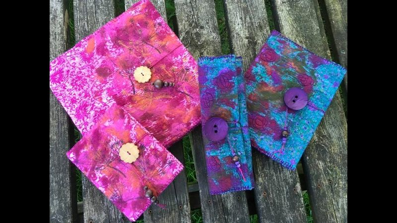 Felted book covers and jewellery rolls