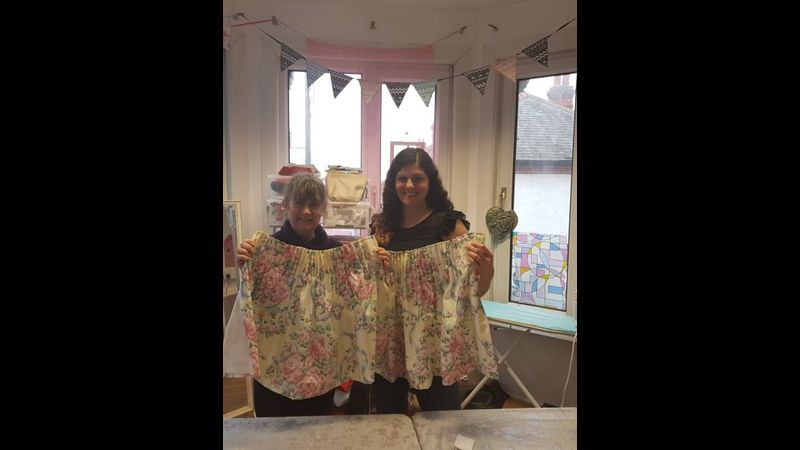Lined curtain workshop with Craft My Day