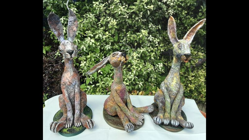 Stone Art Hares