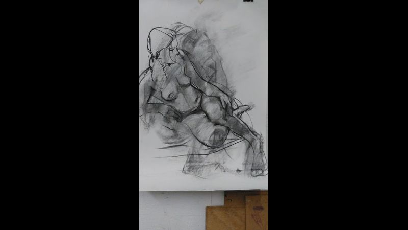 Life drawing class at the Courtyard Art Studio by Clare Rose