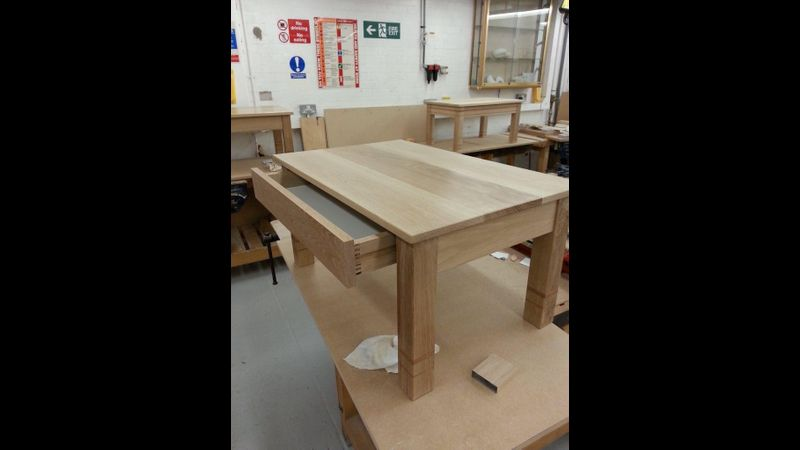 Finished product on the Furniture Making Workshop course