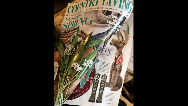 The Crafty Gal Hare as featured in the March 2020 Country Living Magazine.