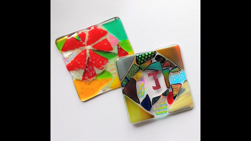 Student Fused Glass Coasters