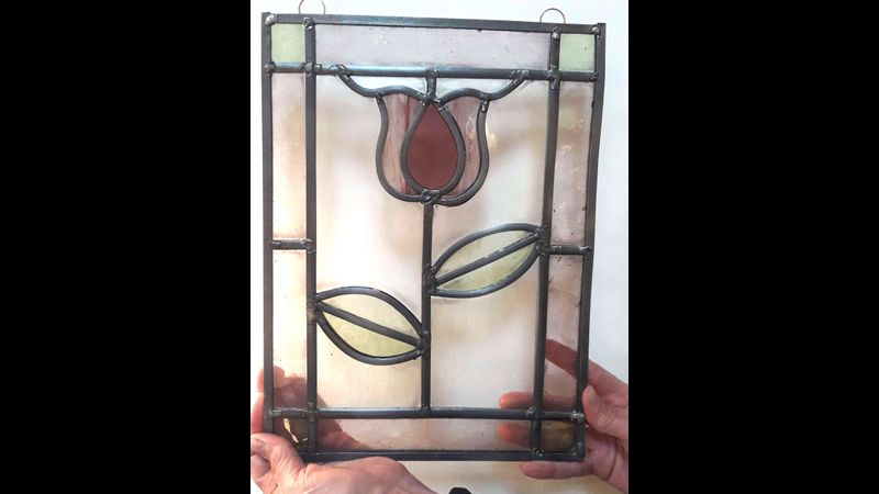 Stained Glass Panel making 2 day course Quirky Workshop with Sarah Walkey at Greystoke, nr UIlswater