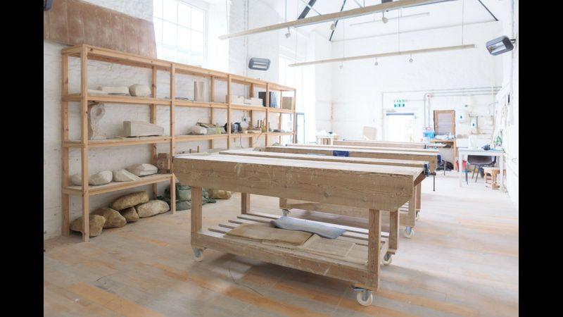 sculpture studio at new brewery arts