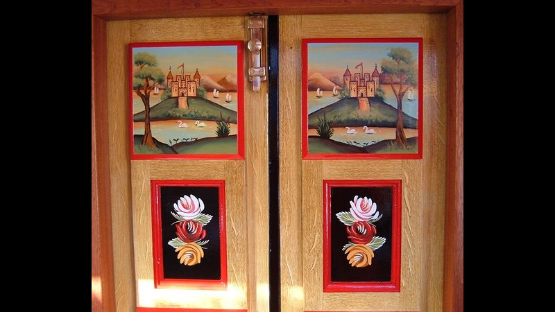 Roses and Castles decorated doors