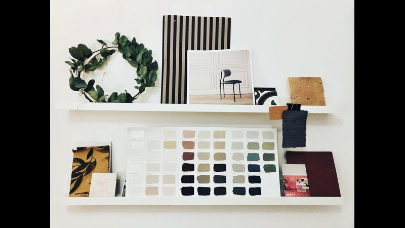 Interior moodboard on Weekend course