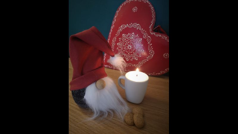A scented candle created in a minature teacup, cute and cosy!