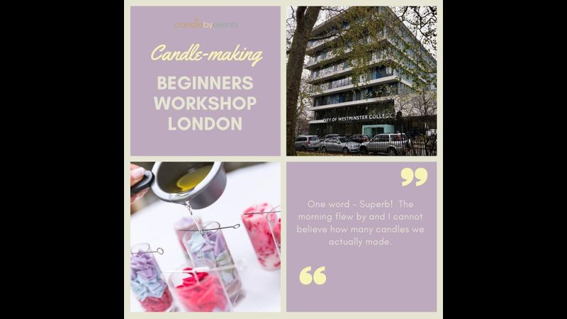 Candle making workshop in London