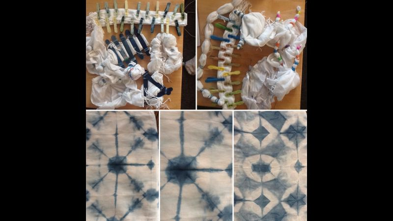 Preparation and Results, Shibori & Indigo, North Devon