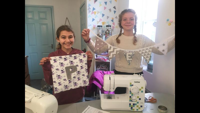 Elisa and Polly with their makes
